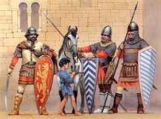 romanoimpero.com: LO SCUDO ROMANO Byzantine Army, Roman Soldiers, Elmo, Roman Empire, Ancient Egypt, Middle Ages, Archaeology, Warfare, Military
