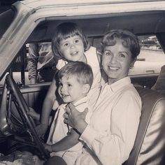 Debbie Reynolds with her son, Todd & daughter, Carrie