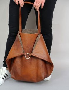 Large leather shoulder bag, Brown Slouchy Tote, Brown Handbag for Women, Soft Leather Bag, Every Da Large Leather Tote Bag, Leather Purses, Soft Leather Handbags, Large Tote Bags, Canvas Leather, Leather Clutch, Purses And Handbags, Luxury Handbags, Cheap Handbags
