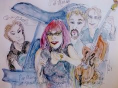pat murray and an amazing band Watercolor Paintings, Sassy, Jazz, Princess Zelda, Singer, Group, Unique, Amazing, Music