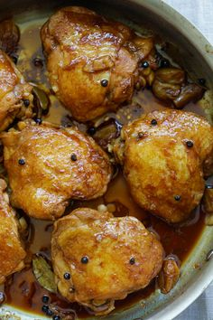 Chicken Adobo (The Best Homemade Recipe) - Rasa Malaysia filipino chicken thigh recipes Filipino Recipes, Asian Recipes, Filipino Food, Filipino Dishes, Chicken Adobo Filipino, Chicken Recipe Filipino Style, Mexican Chicken, Cooking Challenge, Poblano