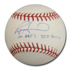 Autographed Ryan Howard MLB Baseball Inscribed 100Th325