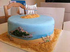 St Ives Cake ~ St Michael's Mount ~ Beach Cake ~ Sand