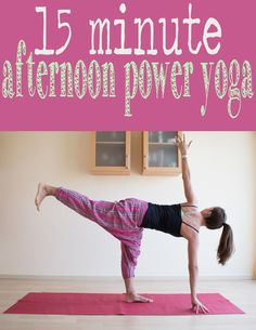 Yoga Video: 15 Min Afternoon Power Yoga | Definitely more of a High Intermediate/Advanced workout. The verbal cues can be confusing, and no modifications for lower levels are offered (such as blocks) only mods for taking it harder.