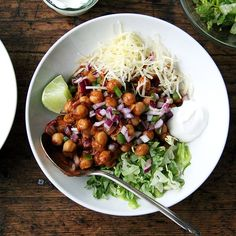 Chickpea Taco Bowls recipe on Food52 5 P+ without condiments, sour cream, cheese etc.