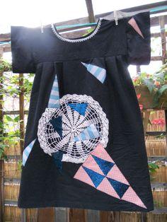 applique, handmade dress