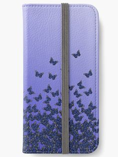 ) Purple, violet colors, insects pattern' iPhone Wallet by cool-shirts