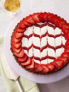 This pressed-crust strawberry tart is gorgeous and surprisingly easy to make! Impress your guests without even trying.