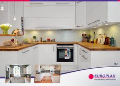 To add extra prep and storage space to the tiny kitchen, create a U-shaped kitchen. For more details Visit : http://www.europlak.in/ #EuroplakIndia #ModularKitchen