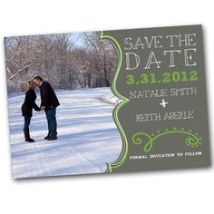 Modern Save the Date Card or Magnet - customize to your colors. $15.00, via Etsy.