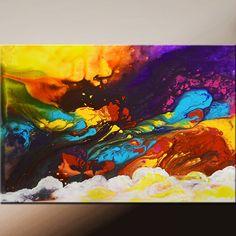 Lona lona de pintura de arte abstracto pintura por wostudios