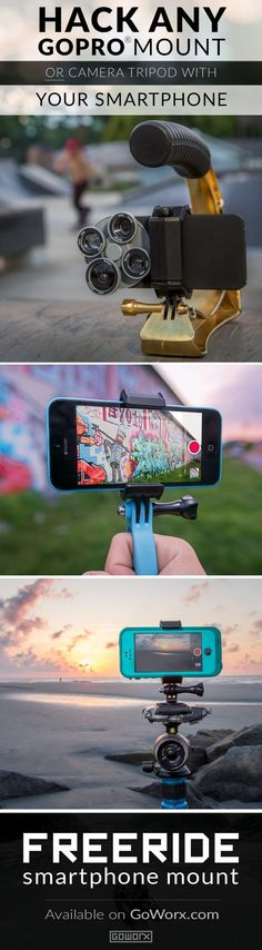 [Gadgets & Gear] The FreeRide Phone Mount transforms your iPhone:registered: or smartphone into an versatile and mountable camera capable of handling all of life's adventures. Available today for $24.99 and backed by our 100% Gear Guarantee. // Your source for GoPro, Drone & Mobile Gear // http://www.GoWorx.com