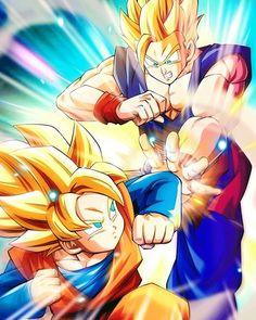 Dragon Ball Z Super Poster Goku Vegeta Teen Gohan Future Trunks 11x17 13x19