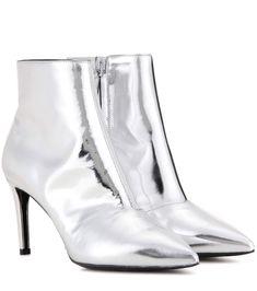 BALENCIAGA Metallic Leather Ankle Boots. #balenciaga #shoes #boots