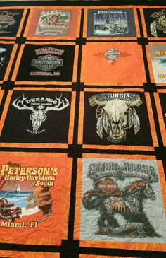 Check out this item in my Etsy shop https://www.etsy.com/listing/288489665/harley-davidson-t-shirt-quilt