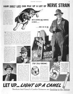 a study of the carcinogenic camel advertisement The joe camel advertising campaign violates federal law, the federal trade commission charged today the campaign, which the ftc alleges was successful in appealing to many children and adolescents under 18, induced many young people to begin smoking or to continue smoking cigarettes and as a result caused significant injury to their health and safety.