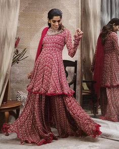 Best Labels To Buy Gorgeous Sharara Suits From! Western Dresses, Indian Dresses, Indian Outfits, Indian Attire, Indian Wear, Kurti Embroidery Design, Sharara Suit, Indian Designer Suits, Kurta Designs