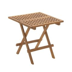 Brown Teak Wood Folding Table - Overstock Shopping - Great Deals on Dining Tables