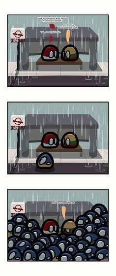 UK rain | Polandballs Countryballs