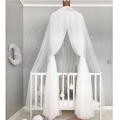 Mosquito Net for Kids Room, FOME Upgraded Version Ten Layers Princess Bed Canopy Yarn Play Tent Round Dome Tent Canopy Bed Net Play Tent Bedding for Kids Playing Games House with Gift Star Garland Bed Valance, Canopy Curtains, Canopy Tent, Door Canopy, Garden Canopy, Fabric Canopy, Canopy Outdoor, House Canopy, Bed Canopies