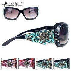 WESTERN HORSE BEADS SUNGLASS - BK/CF/LP/RD  See more at http://www.montanawest.ca/collections/sunglasses