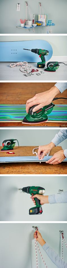 Do-it-Yourself Regal aus Snowboard #DIY #Snowboard #Regal #Selbermachen #Basteln #Handwerken #Bosch #Galaxus