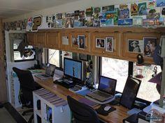 Built In Desk In The Rv Built In Desk Rv Living