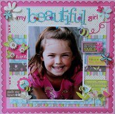 Beautiful little girl layout featuring Momenta by Jodi Wilton