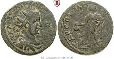 RITTER Kilikien, Tarsos, Valerianus I., Hermes #coins
