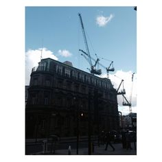 Cranes. Touching distance. City of London