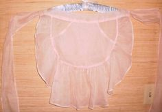 Pink Ruffled Organdy Hostess Cocktail Party Apron Vintage 40s 50s Mid Century Modern #dteam