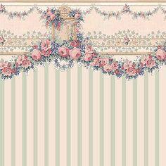 "Dollhouse Wallpaper "" Carmen Green Stripe "" | eBay"