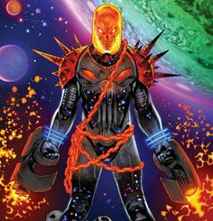 Here's your first look at 3 pages from Cosmic Ghost Rider the start of a miniseries by writer Donny Cates and artist Dylan Burnett, on sale July 2018 from Marvel Comics. Marvel Comics, Marvel Vs, Marvel Funny, Marvel Heroes, Marvel Characters, Ghost Rider Costume, Ghost Rider 3, Ghost Rider Marvel, Comic Character