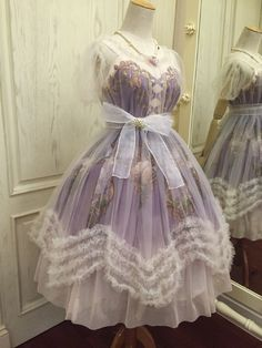 Used reverse image search, can't find where this is sold. Lolita dress sheer layered
