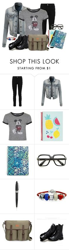 """Just a little help from my Friend"" by ljbminime ❤ liked on Polyvore featuring LE3NO, Topshop, Vera Bradley, Pineider, Bling Jewelry, Sunsteps, women's clothing, women's fashion, women and female"