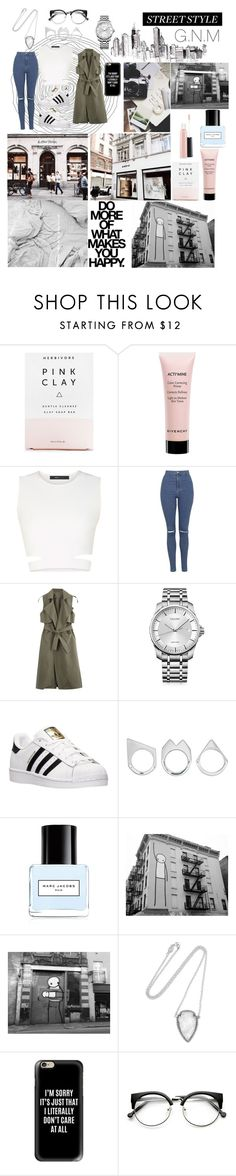 """Street Style"" by gnmickey ❤ liked on Polyvore featuring Herbivore, Givenchy, BCBGMAXAZRIA, Topshop, Calvin Klein, adidas, Moratorium, Marc Jacobs, Fuji and Pamela Love"