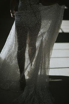 Bridal fashion inspiration | Our bride wears a sequinned wedding gown by Anna Campbell Bridal | HOORAY! Mag