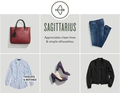 Zodiac Sign Style - You're a bonafide goofball with an enviable sense of humor—and this translates to your style as well. Hone your penchant for polished yet unfussy style and gravitate toward clean, feminine silhouettes in the new year. Then, push your style boundaries this year by adding in brave (and bolder) silhouettes and statement accessories.