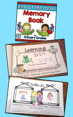 Memory Book for Kindergarten and First Grade $