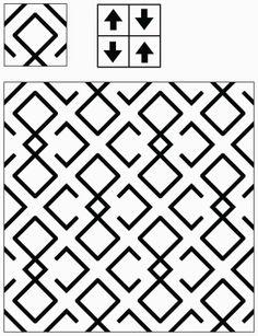 Adaptive Rugs & Tile Spin: The Curse of Truchet's Tiles Geometric Pattern Design, Geometry Pattern, Graphic Patterns, Tile Patterns, Geometric Art, Textures Patterns, Print Patterns, Form Design, Motif Design