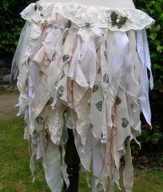 Cream white tea dyed steampunk wedding faery or by peacockandrose, £49.00