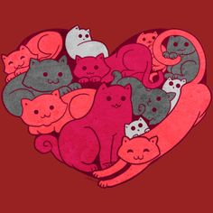A Purrrrrfect Love is a T Shirt designed by Helenasia to illustrate your life and is available at Design By Humans
