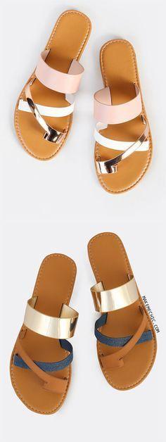 Multi Toe Ring Sandals BLUSH MULTI