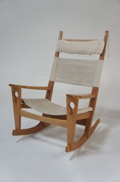 Angelucci 20th Century • Hans Wegner 'Keyhole' Rocking Chair -ON SALE!!