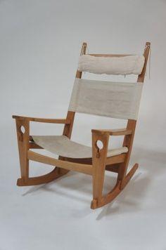 Angelucci 20th Century • Hans Wegner 'Keyhole' Rocking Chair -ON SALE!!