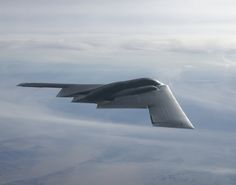 A B-2 Spirit flies to the North Pole Oct. 27, 2011, on a test mission from Edwards Air Force Base, CA (U.S. Air Force photo/Bobbi Zapka)