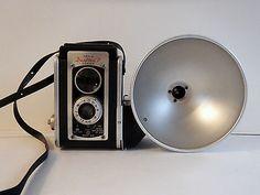 Handsome Vintage Kodak: Duaflex II, Flasholder Flash. F:8 72mm. Kodar Lens.