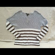 Tommy Bahama Belle View Stripe Pullover Tommy Bahama Belle View Strip Pullover, 53% Linen, 47% cotton, Color-Concrete Gray, size L Tommy Bahama Tops