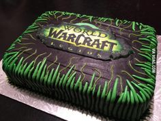 My cake (made by my incredible wife) for my birthday...! GIVE HER SOME LOVE PLEASE! #worldofwarcraft #blizzard #Hearthstone #wow #Warcraft #BlizzardCS #gaming