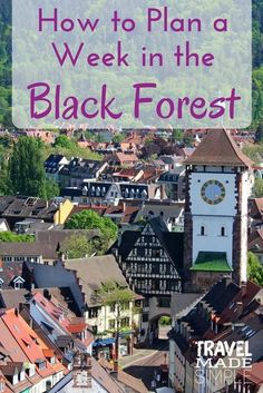 When you think of Germany, do you see fairy tale forests and coo coo clocks? That's the Black Forest in the southwest corner of Germany. Plan your trip with our 1 week itinerary in the Black Forest and beyond. #germany #blackforest #freiburg #germanytips #germanyitinerary #travelplanning